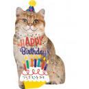 Großhandel Partyartikel: SuperShape 'Happy Birthday Katze' Folienballon , v