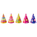 Party hat dots and stripes assorted