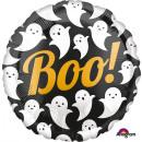Standard 'Boo! Ghosts' Foil Balloon Round,