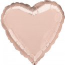 Corazón de Globo Foil 'Rosé Gold' estándar