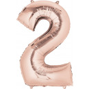 Großhandel Partyartikel: SuperShape '2 - Rosé Gold' Folienballon, ...