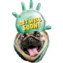 Ballon Foil SuperShape 'Avanti Get Well Pug&#3