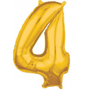 26 '' Gold-4 'Foil Balloon, Packed, 45
