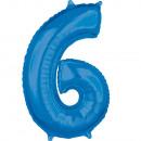26 'szám' 6 'Kék fólia léggömb 43cm x