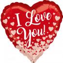 Standard 'I love you - rosé golden hearts'