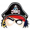 Papír maszk Pirates Treasure 21,6 x 22,8 cm