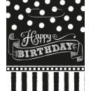 8 Partytüten Birthday Accessories - Black & White