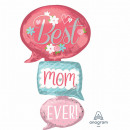 Multi-balloon 'Best Mom Ever - Speech Bubbles&
