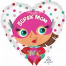 Standard 'Super Mom' Folienballon Rund, verpackt,