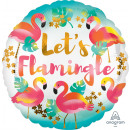 Standard 'Let's Flamingle' foil balloo