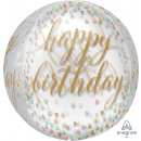 Orbz 'Pastel Confetti' Foil Balloon Clear,