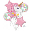 Bouquet 'Magical Unicorn' 5 foil balloons,
