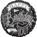 Standard 'Chalkboard Happy Birthday' Folienballon