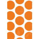 10 Papiertüten Polka Dot orange 11,3 x 17,7 cm