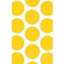 10 Papiertüten Polka Dot sonnengelb 11,3 x 17,7 cm
