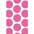 10 Papiertüten Polka Dot pink 11,3 x 17,7 cm
