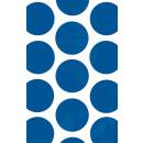 10 Papiertüten Polka Dot royalblau 11,3 x 17,7 cm
