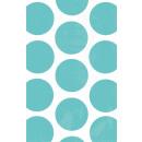 10 Papiertüten Polka Dot türkis 11,3 x 17,7 cm