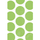 10 Papiertüten Polka Dot kiwi 11,3 x 17,7 cm