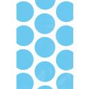 10 papírzacskó polka dot azúrkék 11,3 x 17,7 cm