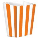 5 kartondoboz A narancs csíkos 9,5 x 13,5 cm