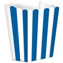 5 cartons Rayures bleu royal 9,5 x 13,5 cm