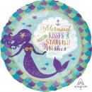Standard Mermaid Wishes & Kisses fólia léggömb
