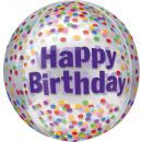wholesale Food & Beverage: Clear Orbz ' Happy Birthday Funfetti' Foil