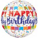 Clear Orbz 'Happy Birthday Banner Bash' Folienball
