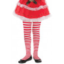 wholesale Childrens & Baby Clothing: Children's tights red-white ringed one size