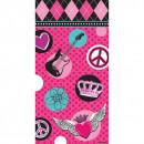 wholesale Skirts: 8 party bags Rocker Girl 25.5 x 13 x 7.6 cm