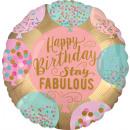 wholesale Food & Beverage: Standard Happy Birthday Stay Fabulous Foil ...