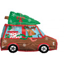Großhandel Geschenkartikel & Papeterie: Junior Shape 'Weihnachstsmann im Auto' Folienballo