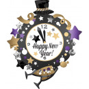 SuperShape 'New Year's Watch' Foil Bal
