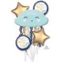 Csokor Twinkle kis csillag fólia léggömb csomagolv