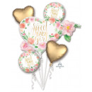 Boeket Floral Baby Girl Folie ballon verpakt