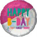 Jumbo Young & Fabulous születésnapi fólia légg