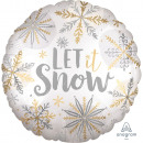 Standard Shining Snow satin Foil balloon packed