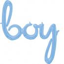 CI: Phrases Script Phrase Boy Pastel Blue Folienba