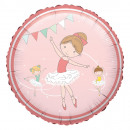 Standard 'Little Dancer' Folienballon rund, verpac