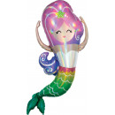 Holographic SuperShape Iridescent Mermaid Folienba