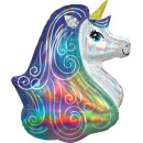 Holographic SuperShape Iridescent Rainbow Unicorn