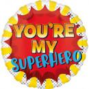 Standard You'Re My Superhero foil balloon pack