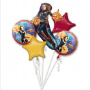 mayorista Bufandas, gorros & guantes: Ramo Capitán Marvel envuelto en globo de aluminio