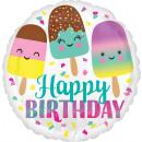 wholesale Food & Beverage: Standard Happy Ice Cream Birthday foil balloon ver