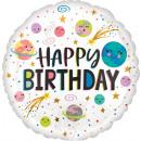 mayorista Alimentos y bebidas: Estándar sonriente galaxia Happy Birthday Foil glo