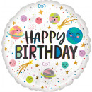wholesale Food & Beverage: Standard Smiling Galaxy Happy Birthday Foil Balloo