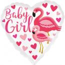 Szabványos HX Flamingo kislány fólia léggömb verpa