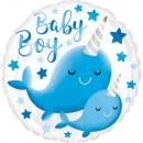 Szabványos HX Narwhal Baby Boy fólia léggömb csoma