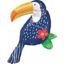 SuperShape Tropical Jungle Toucan Folienballon ver